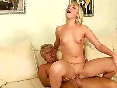 old man copulates hawt juvenile blonde