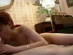 young russian redhead fucked by older guy