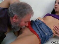 tracy can not believe her luck when the old guy