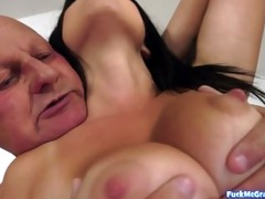 hot young beauty for horny gramps