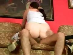 chubby wife fucking grandpa by snahbrandy