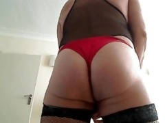 red satin panty play