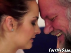 old curly perv copulates younger gf