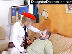 young teen hatefucked hard by daddy