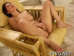 sweetheart plays with sex tool