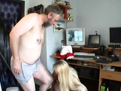 old man fucks young blond