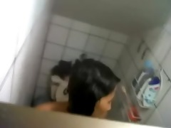 video - wife sister washroom hidden web camera spy