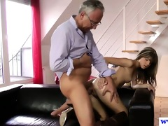 juvenile european whore fucks old mans dick