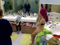 big brother nl sexy blonde teen girl in string