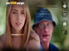 young blonde babe copulates hers grandpa boyfriend