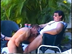 muscled dad bears enjoying sleazy outdoor ramrod
