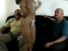 sexy playgirl copulates 2 old guys