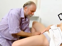 lascivious old teacher begins to touch juvenile