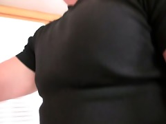 concupiscent mother-in-law toying her shaved twat