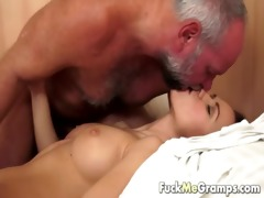 grandpa has an appetite for juvenile pussy