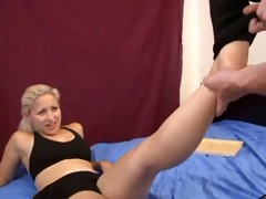 daughters footjob