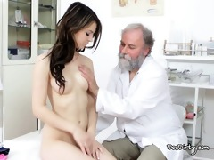 the old doctor takes care of his sexy youthful