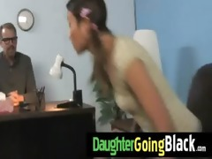 new black stepdad punishes hot daughter for being