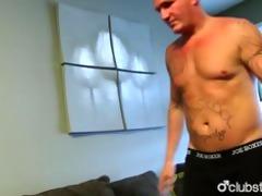 tattooed str guy maverick masturbating