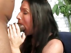 brunette mother acquires boned by a big black dong