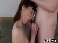 virgin girl sucks a dick
