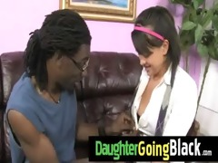 hot daughter ramrod engulf and interracial fuck 6