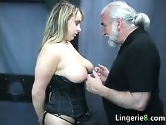 busty serf in the dungeon