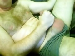 hairy excited married daddy wanks