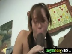 my daughter gets drilled by monster black fellow 8