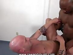 taking large black raw cock