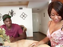 sexy ebon gal drilled by her step brother