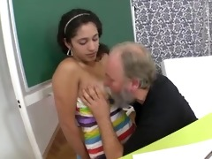 her tricky old teacher fucks her bald legal age