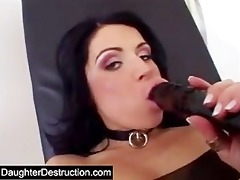 young daughter painfully anal drilled