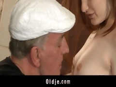 horny oldmen bangs hard young harlots in holiday