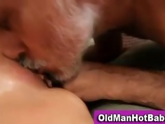 old guy fucks sexy younger babe