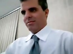 execitive jerks off on cam at the office