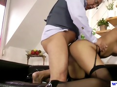 old euro chap gives anal to younger blonde doxy