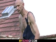 concupiscent gf cheats outdoors with her bfs daddy