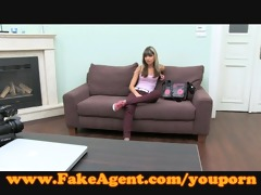 fakeagent creampie for petite blonde!