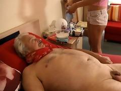 sexy, juvenile nurse bonks horny, sick older man