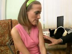 teacher tasting a chaste bawdy cleft