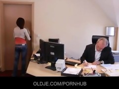 young secretary seduces her old boss