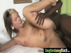 youthful daughter acquires pounded by large dark