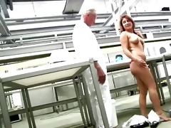 young butt redhead gets naked in front of lewd