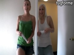 sister and blond busting jacking off jo