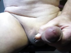 65 year old old man cums