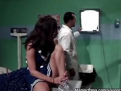 doctor copulates legal age teenager cheerleader